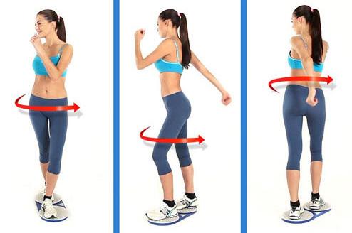 Диск здоровья упражнения для похудения талии и живота.