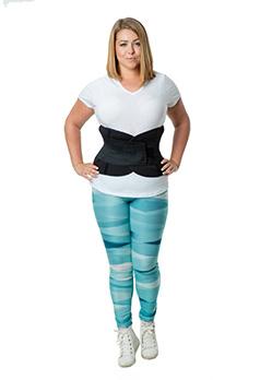 Фитнес корсет пояс для похудения живота (коррекция талии + эффект сауны + поддержка спины ) SV3