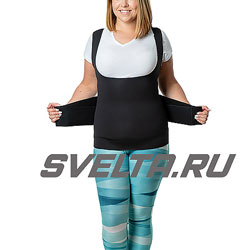 Майка-сауна для похудения с утягивающим живот корсетом SV11