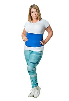 Пояс для похудения живота (с эффектом сауны, неопрен, унисекс) - бандаж для живота для похудения